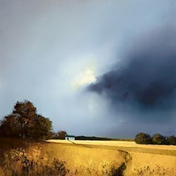 Golden Fields of Home by Barry Hilton - Hand Finished Canvas on Board sized 18x18 inches. Available from Whitewall Galleries